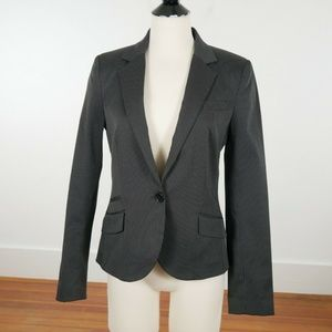 MNG by Mango Pinstriped Suit Blazer Jacket Stretch
